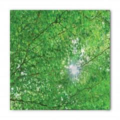 Yeşil Ağaç ve Güneş Bandana Fular