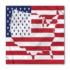 ABD Bayrağı ve Harita Bandana Fular