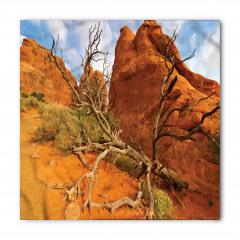 Dağ ve Ağaç Desenli Bandana Fular