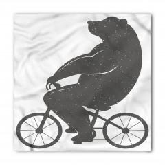 Bisiklete Binen Ayı Bandana Fular
