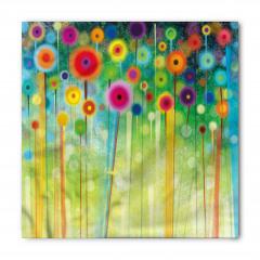 Rengarenk Çiçekler Bandana Fular