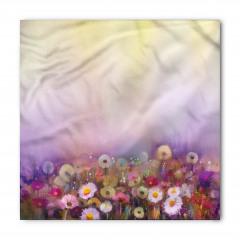 Sulu Boya Çiçekler Bandana Fular