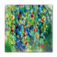 Yeşil Daldaki Çiçekler Bandana Fular