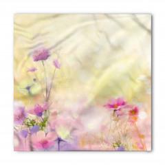 Pembe Çiçek Desenli Bandana Fular