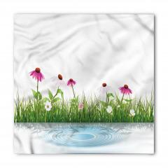 Pembe Beyaz Çiçekler Bandana Fular