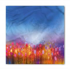 Rengarenk Dağ Çiçekleri Bandana Fular
