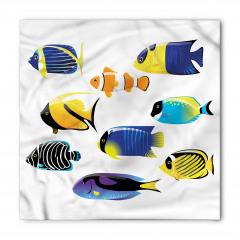 Şık Balık Desenli Bandana Fular