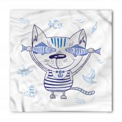 Sevimli Kedi ve Balık Bandana Fular