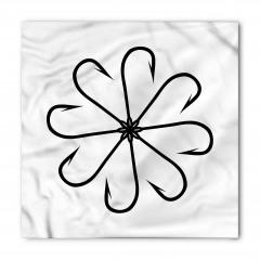 Çiçek Olta Desenli Bandana Fular