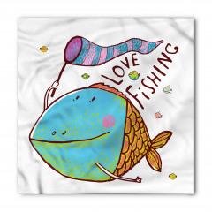 Balıkçılık Aşkı Temalı Bandana Fular