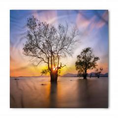 Ağaç ve Gökyüzü Temalı Bandana Fular