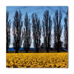 Ağaç ve Çiçek Temalı Bandana Fular