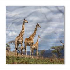 Zürafa Temalı Bandana Fular