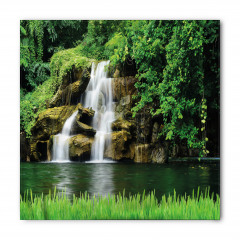 Yeşil Doğa ve Şelale Bandana Fular