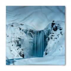 Karlı Dağ İçinde Şelale Bandana Fular