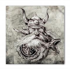 Boynuzlu Şapkalı Viking Bandana Fular