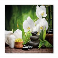 Orkide Mum ve Taş Bandana Fular