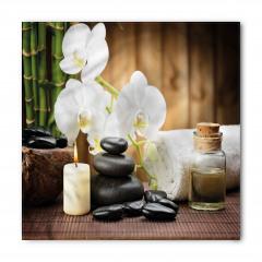 Orkide ve Masaj Taşları Bandana Fular