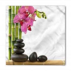 Orkide ve Siyah Taşlar Bandana Fular