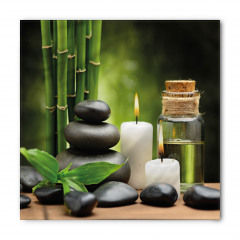 Bambu Taş ve Mum Temalı Bandana Fular