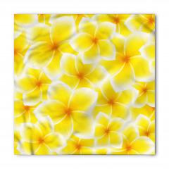 Sarı Beyaz Çiçek Bandana Fular