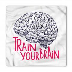 İnsan Beyni Desenli Bandana Fular