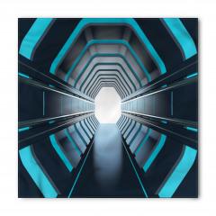 Mavi Işıklı Tünel Bandana Fular