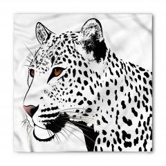 Siyah Beyaz Leopar Bandana Fular
