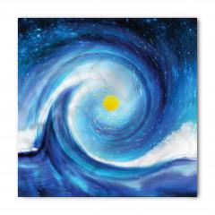Güneş ve Uzay Desenli Bandana Fular