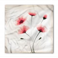 Pembe Zarif Çiçek Bandana Fular