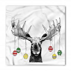 Noel Geyiği Temalı Bandana Fular