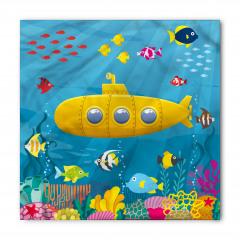 Sarı Deniz Altı Desenli Bandana Fular