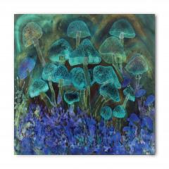 Sihirli Mantarlar ve Çiçekler Bandana Fular
