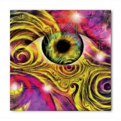 Yeşil Göz Desenli Bandana Fular