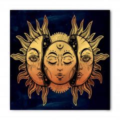 Güneşin Yüzü Desenli Bandana Fular
