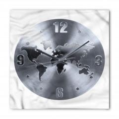 Dünya Haritalı Saat Bandana Fular