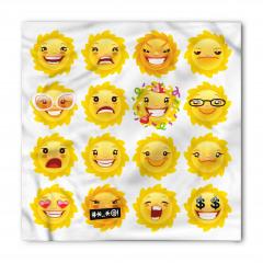Çiçekli Emojiler Bandana Fular