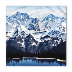 Karlı Dağ Gölü Desenli Bandana Fular