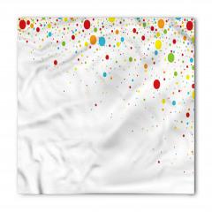 Renkli Puantiye Desenli Bandana Fular