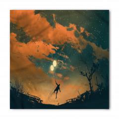 Balonlu Adam ve Gökyüzü Bandana Fular