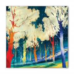 Sarı Ağaçlar ve Orman Bandana Fular