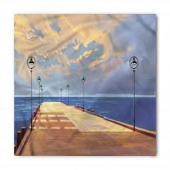 Köprü ve Gökyüzü Temalı Bandana Fular