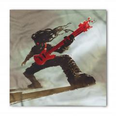 Kırmızı Gitar Müzisyen Bandana Fular