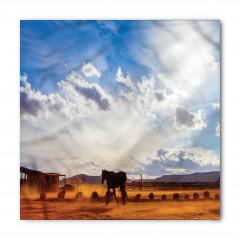 At ve Gökyüzü Temalı Bandana Fular