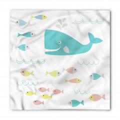 Mavi Balina ve Balık Bandana Fular