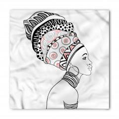 Afrikalı Kadın Portreli Bandana Fular