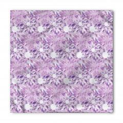 Mor Çiçek Desenli Bandana Fular