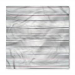 Gri Beyaz Zikzak Desenli Bandana Fular