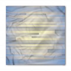 Gri Mavi Şerit Desenli Bandana Fular