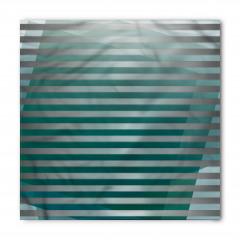 Yeşil Gri Şerit Desenli Bandana Fular